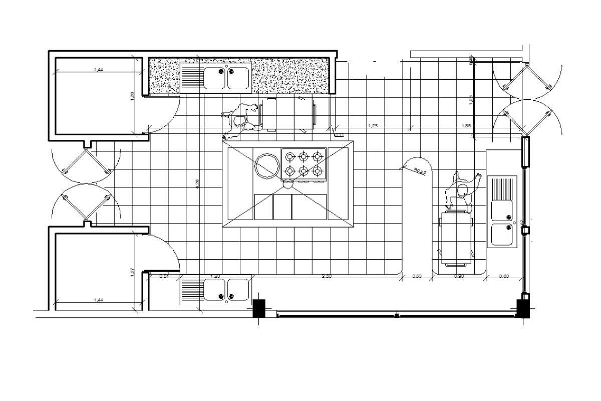 Kitchen 2D and 3D Design